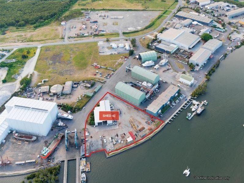 MARINE PRECINCT - High Clearance Warehouse with Secure Yard & Cranes